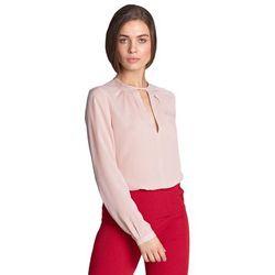 Bluzka z pęknięciem na dekolcie - róż - B100