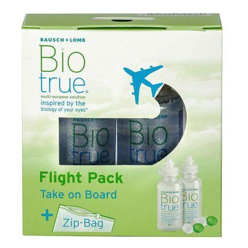 Płyny pielęgnacyjne do soczewek, Biotrue Flight Pack 2 x 60 ml