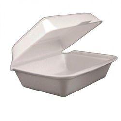 Lunch box styropianowy, jednoczęściowy 190 x 150 x 75 mm, opakowanie 400 szt.