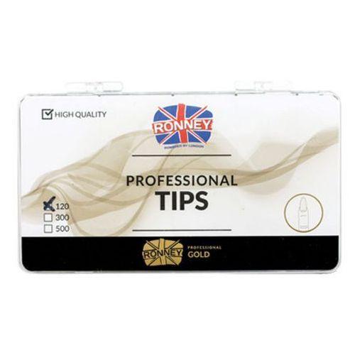 Tipsy, Ronney PROFESSIONAL TIPS ALMOND CREAM Tipsy migdałki bez kieszonki, kremowe (120 szt.)