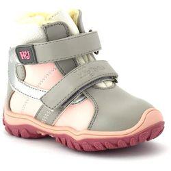 Dziecięce buty zimowe Wojtyłko 20048 - Różowy ||Szary