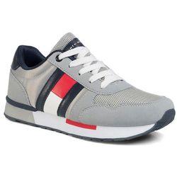 Sneakersy TOMMY HILFIGER - Low Cut Lace Up Sneaker T3B4-30724-0902 S Grey 900