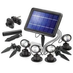 Lampa zewnętrzna solarna Esotec 102142, 4x0.25 W, LED wbudowany na stałe, 40 lm, 6000 K, IP44, (DxS) 21 cm x 15 cm