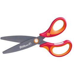 Nożyczki GRIFFIX tytanowe praworęcz 14,5cm PELIKAN - czerwone