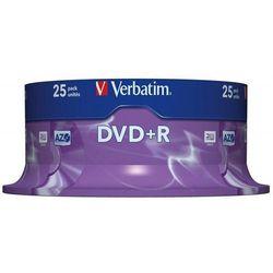 Płyta DVD-R VERBATIM AZO, 4,7GB, prędkość 16x, cake, 25szt., srebrny mat