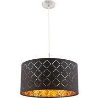 Lampy sufitowe, Lampa wisząca Globo Clarke 15229H lampa sufitowa zwis 1x60W E27 czarna / złota