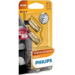 Żarówki Philips® W5W Vision   12V 5W W2,1x9,5d   Blister 2 szt.