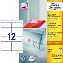 Etykiety uniwersalne Avery Zweckform 3659, 97x42,3mm