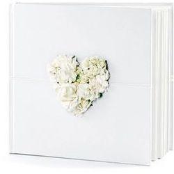 Księga gości weselnych z kwiatami biała - 60 kartek
