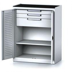 Szafa warsztatowa MECHANIC, 1170 x 920 x 500 mm, 2 półki, 2 szuflady, szare drzwi