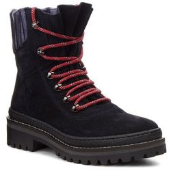 Trapery TOMMY HILFIGER - Modern Hiking Boot Suede FW0FW03048 Midnight 403