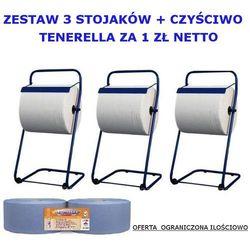 Zestaw trzech stojaków na czyściwa czyściwo TENERELLA za 1zł netto
