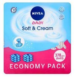 NIVEA 6x63szt Baby Soft&Cream Chusteczki nawilżane dla dzieci i niemowląt