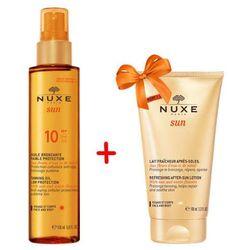 NUXE Sun Brązujący olejek do opalania SPF10 150ml + Balsam orzeźwiający po opalaniu 100ml Gratis!
