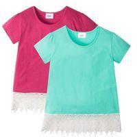 Koszulki z krótkim rękawkiem dziecięce, T-shirt (2 szt.) bonprix niebieski mentolowy + jeżynowo-czerwony