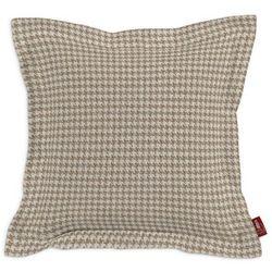 Dekoria Poszewka Mona na poduszkę, beżowo- kremowa pepitka, 45x45 cm, Edinburgh