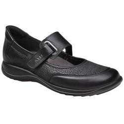 Półbuty na rzepy buty AXEL Comfort 1576 Czarny + Stretch H na haluksy - Czarny