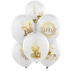 Balony komunijne białe 27CM 25SZT [25 szt.] - 0899-002