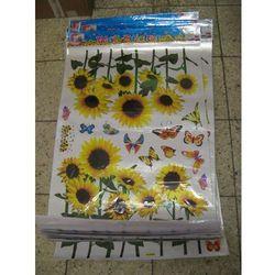 NAKLEJKA NAKLEJKI ŚCIANA MEBLE-słoneczniki motyle