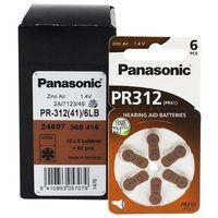 Baterie, 600 x baterie do aparatów słuchowych Panasonic 312 / PR312 / PR41