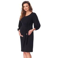 ubrania ciążowe Sukienka ciążowa Trili CZarna Piękny Brzuszek