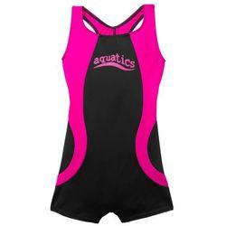 Kostium kąpielowy dziewczęcy bonprix czarno-różowy