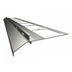 K20 Profil aluminiowy balkonowy 2.0m szary RAL 7037 - listwa balkonowa okapnikowa szara