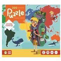 Książki dla dzieci, Puzzle 300. Mapa Świata