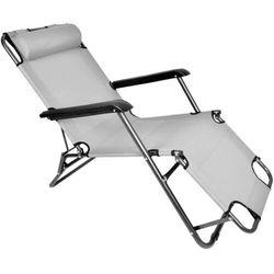 Leżak krzesło plażowe Ibiza jasnoszare