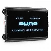 Wzmacniacze samochodowe, 6-kanałowy wzmacniacz samochodowy Auna 6000W akryl