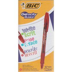 Długopis zmazywalny Gelocity - czerwony (12szt)