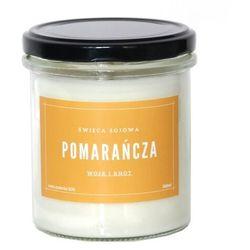 Świeca sojowa POMARAŃCZA - aromatyczna ręcznie robiona naturalna świeca zapachowa w słoiczku 300ml