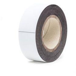 Magnetyczna tablica magazynowa, białe, rolka, wys. 60 mm, dł. rolki 10 m. Zapewn