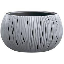 Doniczka Sandy Bowl z wkładem 37 cm szara