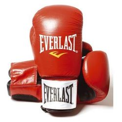 Everlast 14oz Red - Leather Boxing Gloves