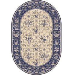 Dywan Agnella Isfahan Olandia Ciemny Niebieski (owal) 160x240