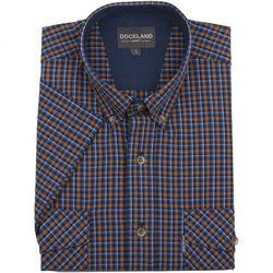 Brązowa koszula Dockland w kratkę, z krótkim rękawem