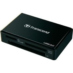 Czytnik kart pamięci, zewnętrzny, USB 3.0 Transcend TS-RDF8K, czarny