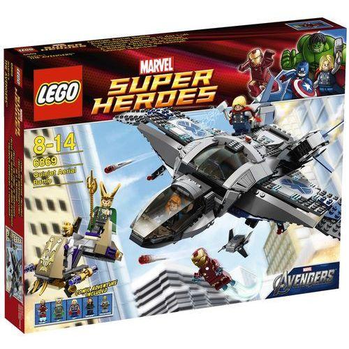 Klocki dla dzieci, Lego SUPER HEROES Quinjet i starcie 6869