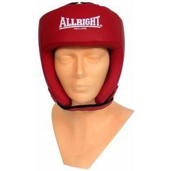 Kask bokserski PU czerwony 3117M Allright