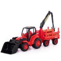 Traktory dla dzieci, WADER-POLESIE Mistrz Traktor z łyżką i przyczepą
