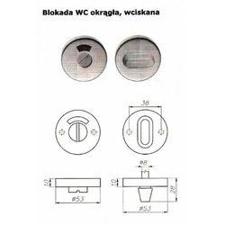 Szyld okrągły A2 do WC ze stali nierdzewnej