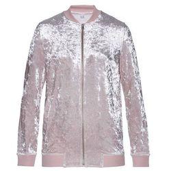 Bluza rozpinana aksamitna bonprix matowy jasnoróżowy z połyskiem