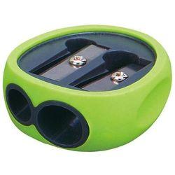 Temperówka KEYROAD Rubber, plastikowa, podwójna, pakowane na displayu, mix kolorów