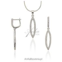 ankabizuteria.pl Komplet srebrny z cyrkoniami osadzanymi jak diamenty metodą micro