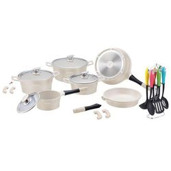 21 Elem. Zestaw Garnków z Powłoką Ceramiczną + Przybory kuchenne - RL-ES1021C CREAM