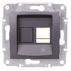 Sedna płytka centralna Schneider podtynkowa 1xRJ45 do Krone grafitowa SDN4300370