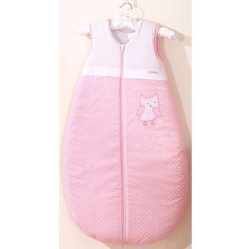 Śpiworki dla niemowląt, MAMO-TATO Śpiworek niemowlęcy do 18 m-ca haftowany Sówki uszatki różowe