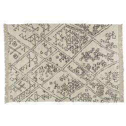 Dywan BADIDA w stylu berberyjskim – 100% bawełny – 160 × 230 cm – Kolor beżowy