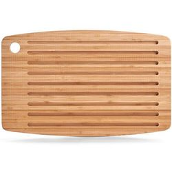Bambusowa deska do krojenia z rowkami na okruchy 40x25 cm, ZELLER